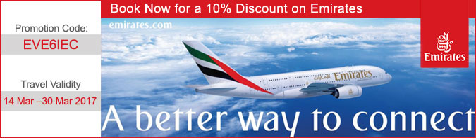 10% Discount on Emirates Airline
